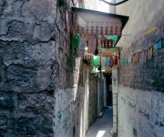 An alley close to the fish market of the Medina