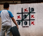 Game Over murale a sud di Damasco