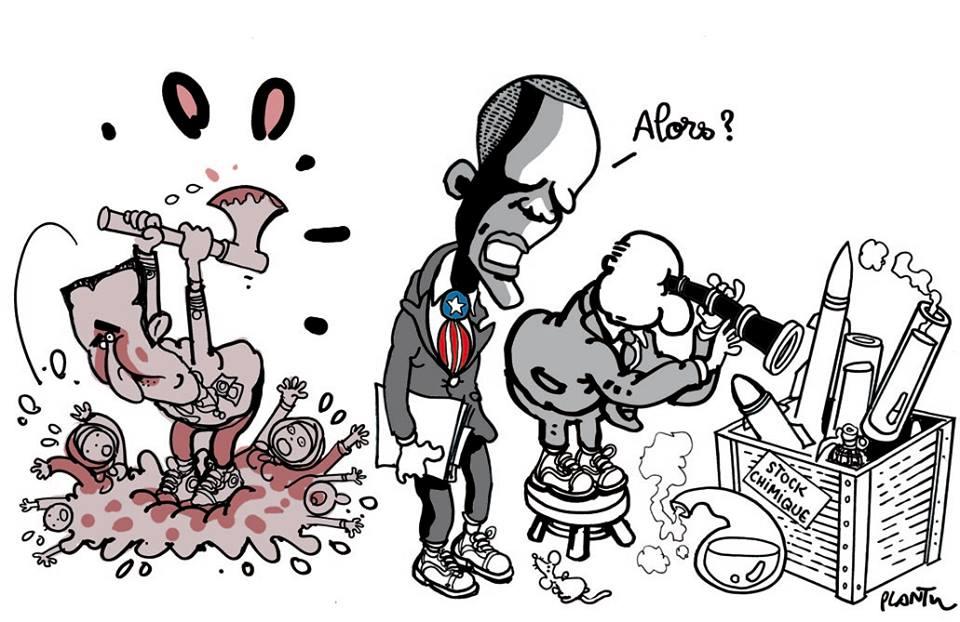 Alla ricerca delle armi chimiche - Plantu, Le Monde