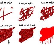 di Yaser Abu Hamed - Linee rosse turche, russe, americane, israeliane, arabe...