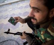 Aleppo - 14 agosto 2012. Membro dell'Esl