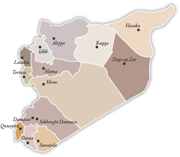 Mappa dei numeri della repressione