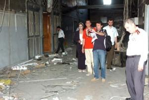 La delegazione di giornalisti italiani a Daraa (Sana)