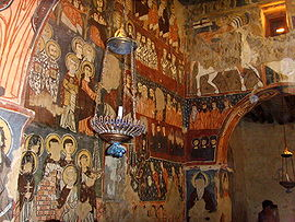 Mar Musa, affreschi nella cappella