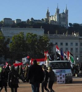 Manifestazione anti-regime siriano a Lione, 22 ottobre 2011 (Chiti)