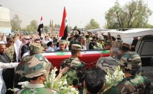 Funerali di militari governativi (Sana)