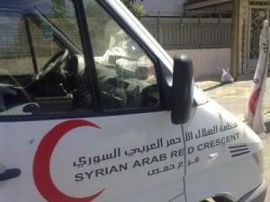 Ambulanza della Mezzaluna rossa siriana (Amnesty)