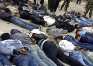 Civili siriani fatti prigionieri dagli shabbiha, Al-Bayda, Aprile 2011