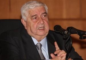 Walid al Muallim, ministro degli esteri siriano in conferenza stampa il 20 novembre 2011 a Damasco