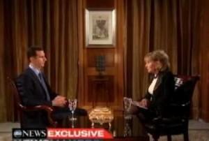 Bashar al Asad risponde alle domande di Barbara Walters, Damasco dicembre 2011
