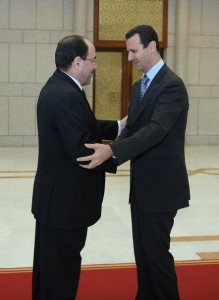 Bashar al Asad riceve il premier Nuri al Maliki, 2009