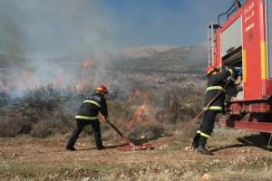 Durante l'esercitazione anti-incendio, Kefraya 12 dicembre 2011 (Paolo Civile)