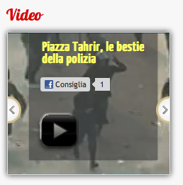 """Fermo immagine del video proposto dal sito """"Contropiano"""", 2011"""