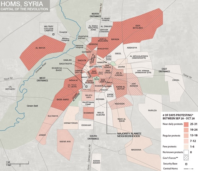 Homs in rivolta, autunno 2011