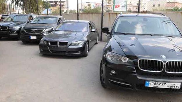 Alcune delle auto rinvenute nel parcheggio di Nizar Hussein, Nahar
