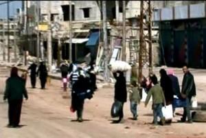 """Sana, """"abitanti di Bab Amro tornano alle loro case, ora sicure"""", 6 marzo 2012"""