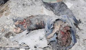 Un dettaglio di una foto della Sana relativa all'esplosione di Kfar Suse, Damasco, 17 marzo 2012