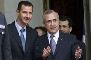 Bashar al Assad (sx) e Michel Suleiman (dx)