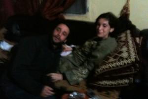 William Daniels e Edith Bouvier in una foto scattata da un attivista siriano