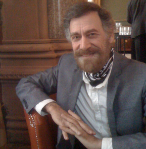 Ali Ferzat a Londra, lo scorso 29 marzo 2012 (foto Trombetta)