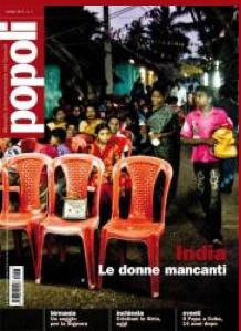 La copertina dell'ultimo numero di Popoli