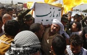 Funerale di un miliziano sciita morto in Siria