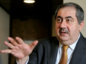Il ministro degli esteri iracheno Hoshyar Zebari