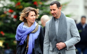 Bashar al Asad e sua moglie Asma in una foto d