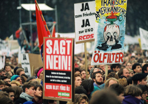 Demonstration gegen Golfkrieg in Bonn 1991