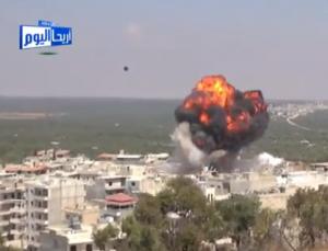 Ariha, esplosione di un cassone-bomba (Youtube)