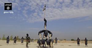 Membri di Daesh si addestrano nei pressi di Damasco (Propaganda Daesh)