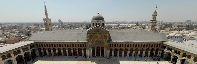 Panoramica della Moschea degli Omayyadi, Damasco