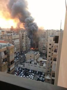 Una delle immagini del luogo dell'esplosione del 2 gennaio 2013
