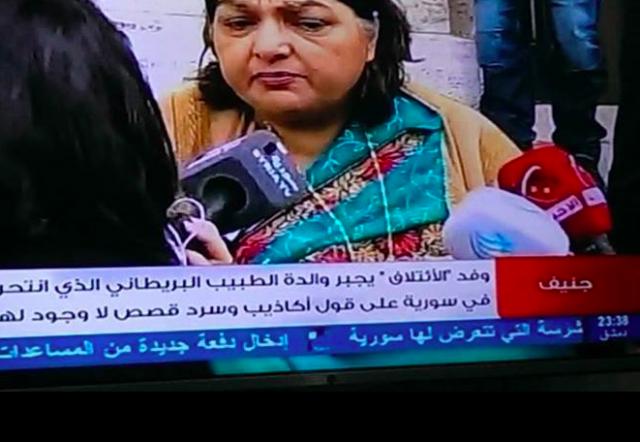 Schermata dalla tv del regime siriano, 30 gennaio 2014