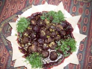 Lahme bi karaz (carne con ciliegie), tipica specialità aleppina