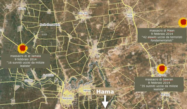 Massacri regione Hama, febbraio 2014