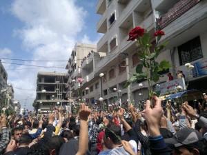 Corteo pacifico a Daraya, 2011