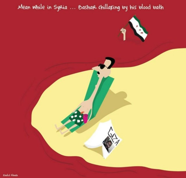 Bashar e Gaza... @khalidalbaih