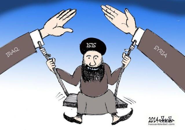 Implicito o esplicito sostegno di Iraq e Siria all'Isis (Hassan Bleibel, 2014)