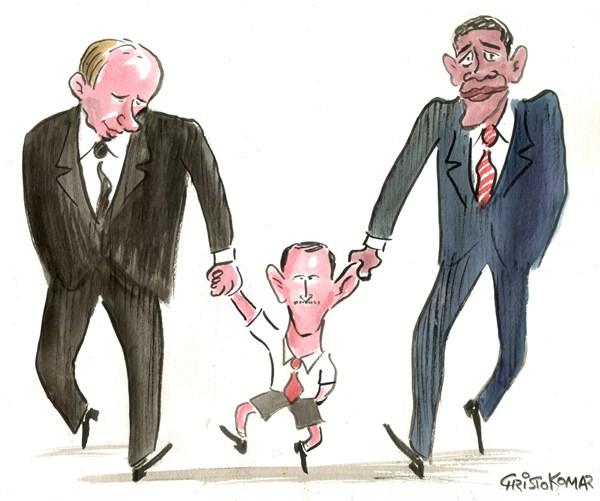 Putin e Obama sostengono Asad (Christo Komarnitski, Bulgaria)