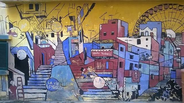 """""""La vie est Belle"""" murale (Foto di Cipì, Beirut 2014)"""