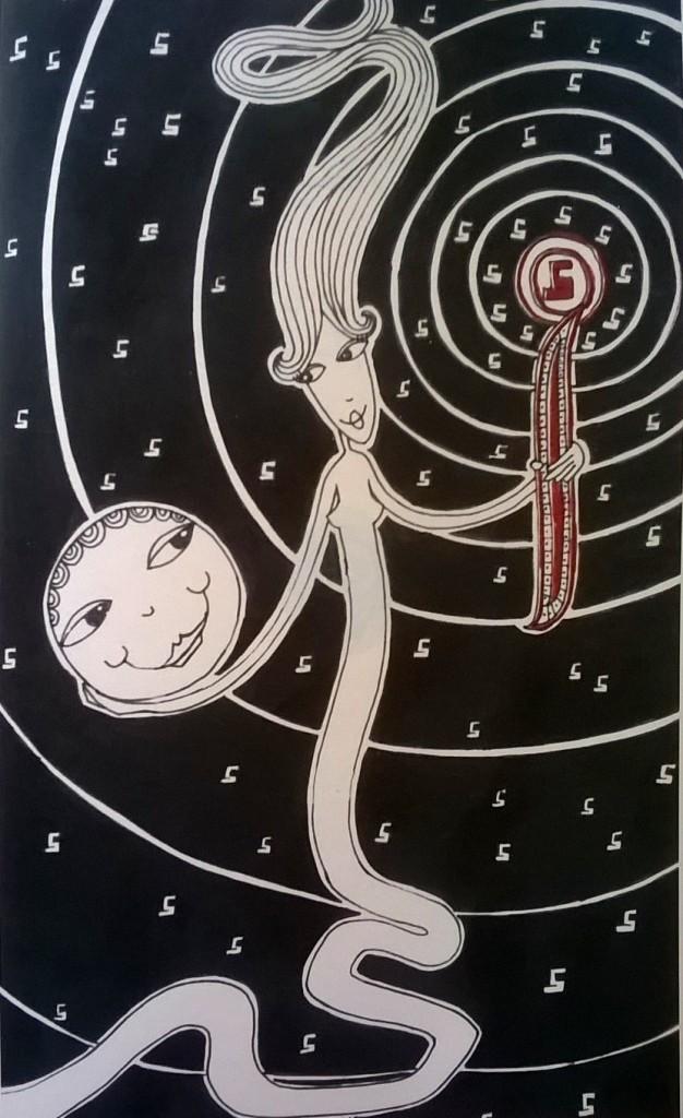 """""""Alif"""" - Illustrazione di Danielle Qattar"""