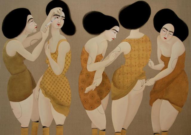 Opera dell'artista curdo-iracheno Havi Kahraman